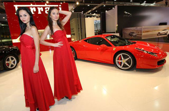 Ferrari 458 Italia 2011 at Abu Dhabi International Motor Show 2010