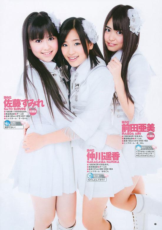 AKB48 Sato Sumire, Nakagawa Haruka and Maeda Ami
