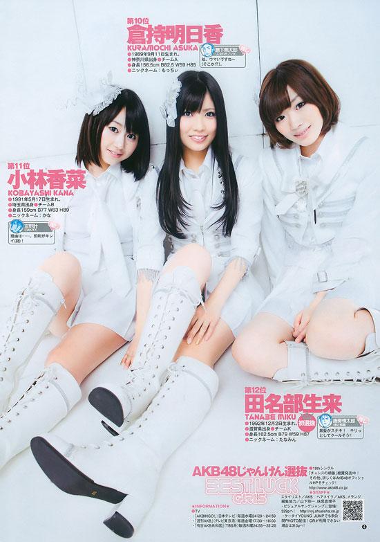 AKB48 Kobayashi Kana, Kuramochi Asuka and Tanabe Miku