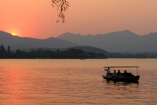 Sunset at West Lake, Hangzhou, China