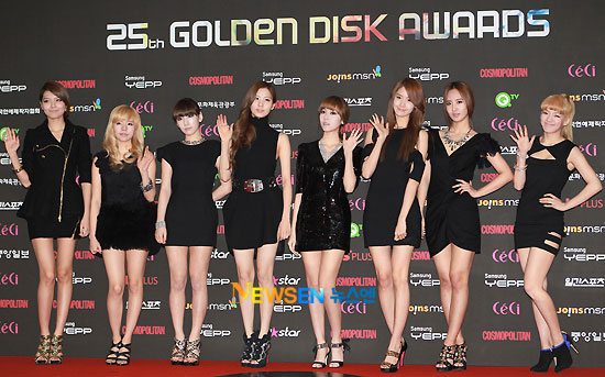 Girls Generation at Golden Disk Award 2010