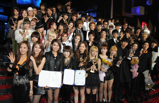 Winners at the Golden Disk Award 2010