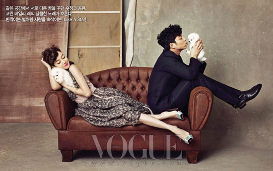 Gong Yoo and Im Soo-jung on Vogue Korea