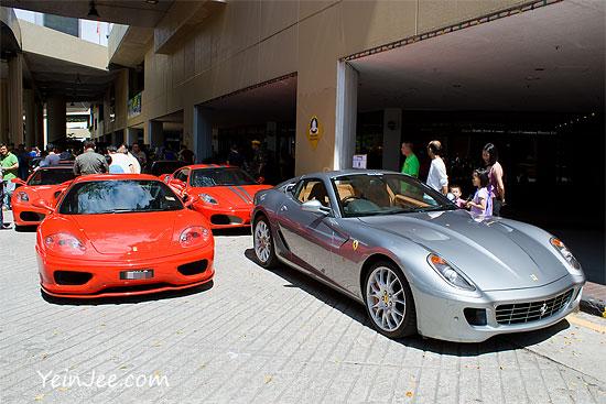 Ferrari cars at PWTC
