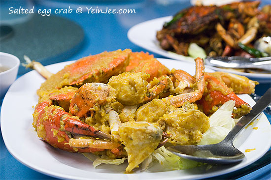 Salted egg crab at Fresh Unique Seafood 23, Petaling Jaya