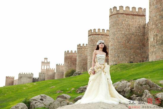 Angela Chang photoshoot at Spain Avila Castle Wall