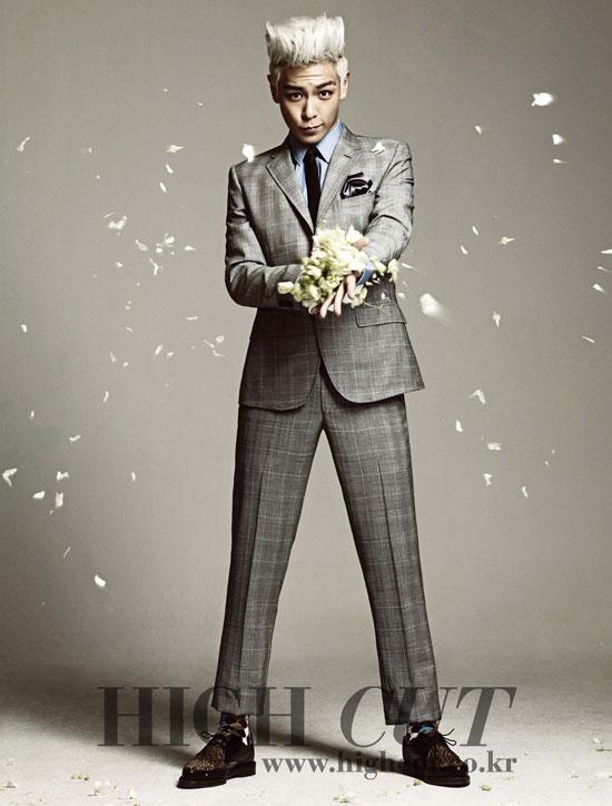 Big Bang TOP High Cut magazine