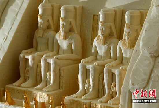 Abu Simbel chocolate sculpture by Mirco Della Vecchia