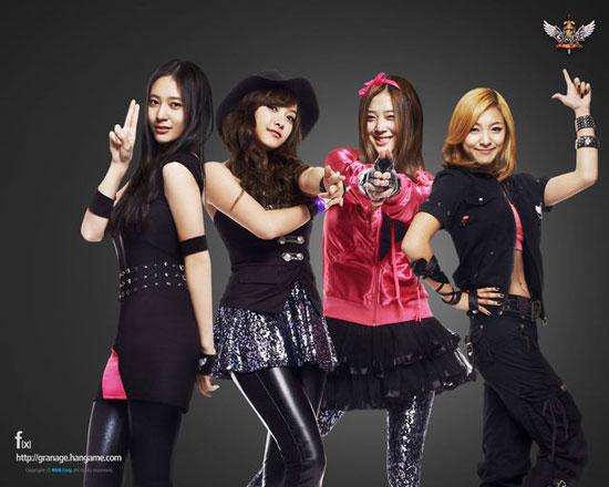Korean pop group f(x) Hangame