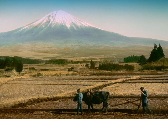 Mt Fuji vintage photo by T Enami