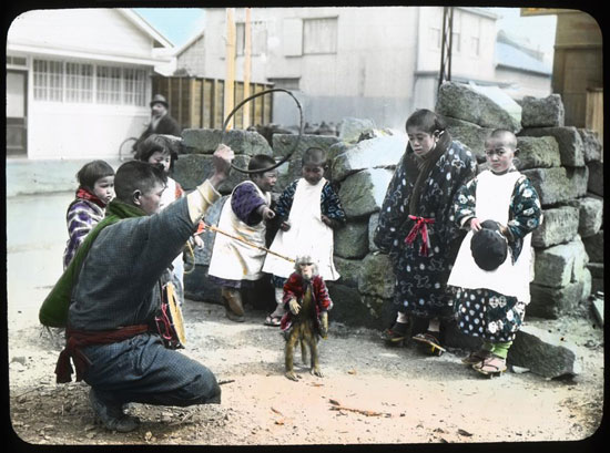 Japanese monkey man vintage photo by T Enami
