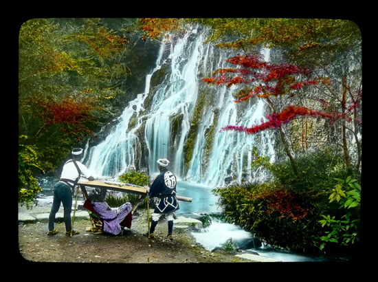 Japanese waterfall vintage photo by T Enami