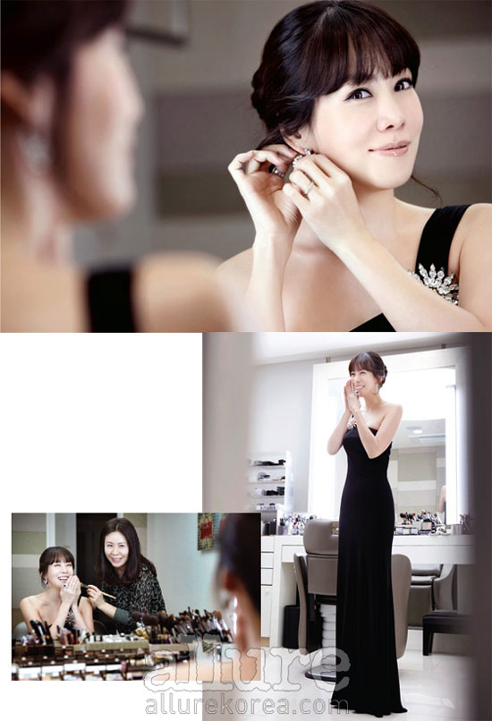 Korean actress Kim Jung-eun Allure moment