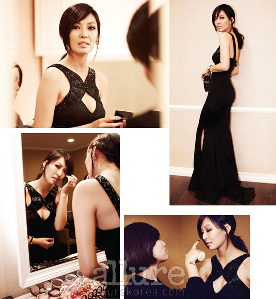 Korean actress Kim So-yeon Allure moment