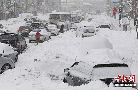 Record snow in Gangwon, South Korea