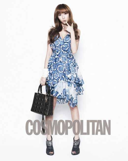 Girls Generation Jessica on Cosmopolitan with Lady Dior