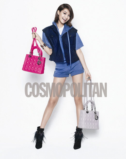 Girls Generation Sooyoung on Cosmopolitan with Lady Dior