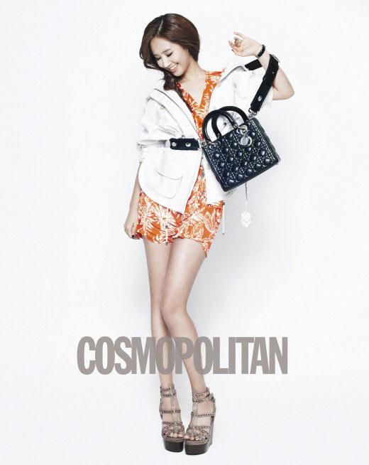 Girls Generation Yuri on Cosmopolitan with Lady Dior