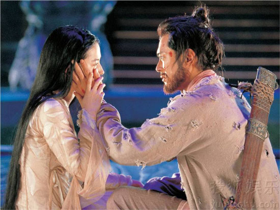 Liu Yifei and Louis Koo in A Chinese Ghost Story