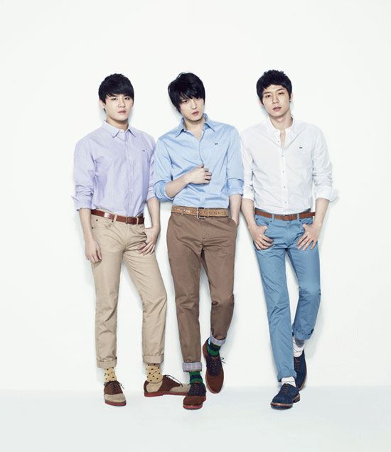 Korean pop group JYJ for NII fashion