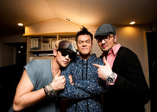Rain, JYP and Kim Tae-woo
