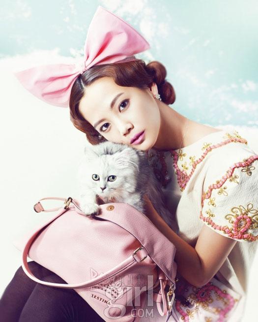 Yoon Seung-ah Vogue Girl Pink Wings 2011
