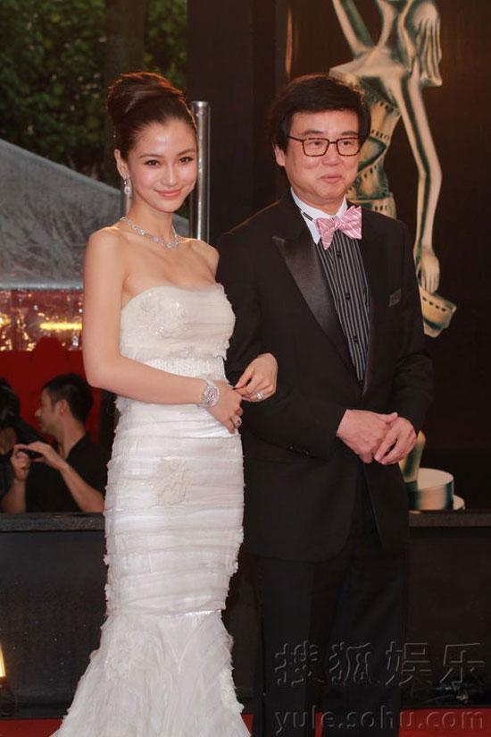 Angelababy and Parkman Wong at Hong Kong Film Awards 2011
