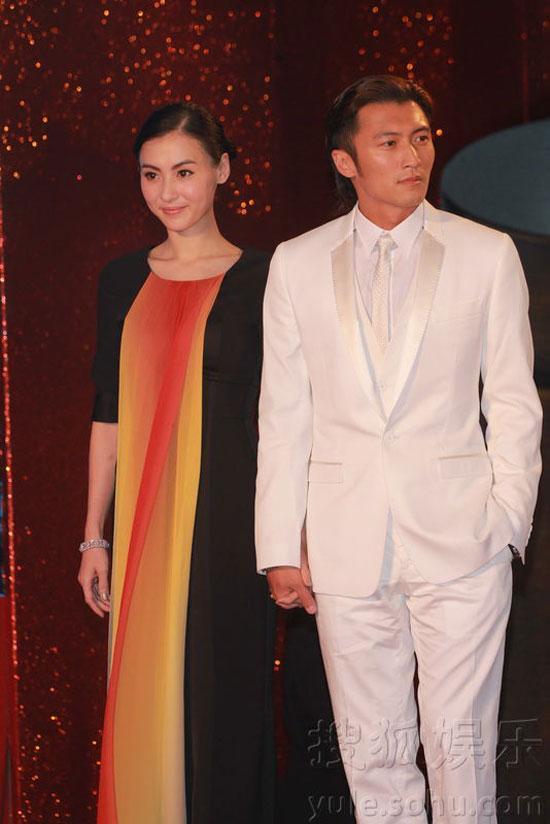 Cecilia Cheung and Nicholas Tse at Hong Kong Film Awards 2011