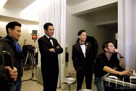 Chow Yun Fat, Jackie Cheung, Nick Cheung Hong Kong Film Awards 2011 Elle photoshoot