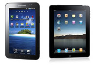Samsung Galaxy Tab and Apple iPad