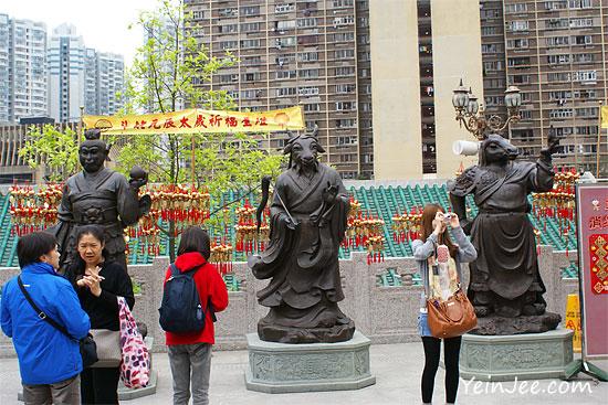 Hong Kong Wong Tai Sin Temple Chinese zodiac statues