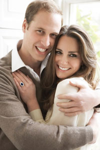 Prince William and Kate Middleton engagement photo