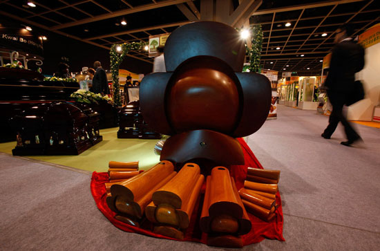 Coffin souvenirs at Asian Funeral Expo