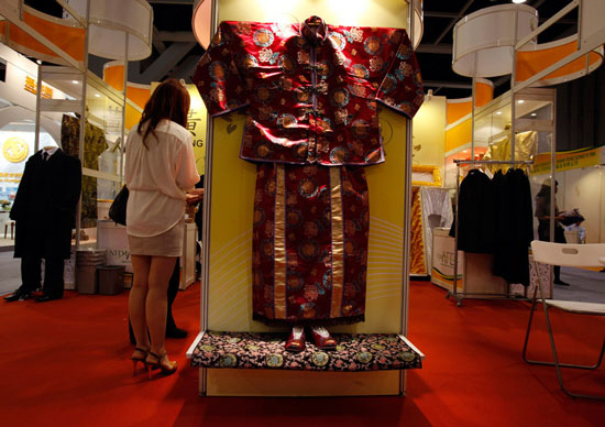Chinese age shroud at Asian Funeral Expo