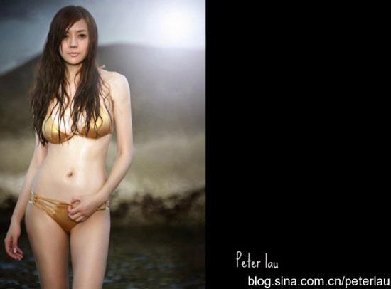 Cica Zhou bikini photo by Peter Lau