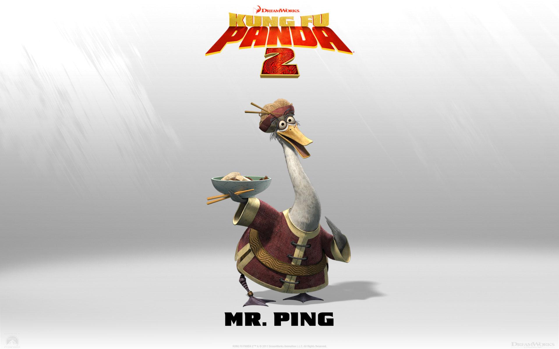 Kung Fu Panda 2 Mr Ping wallpaper