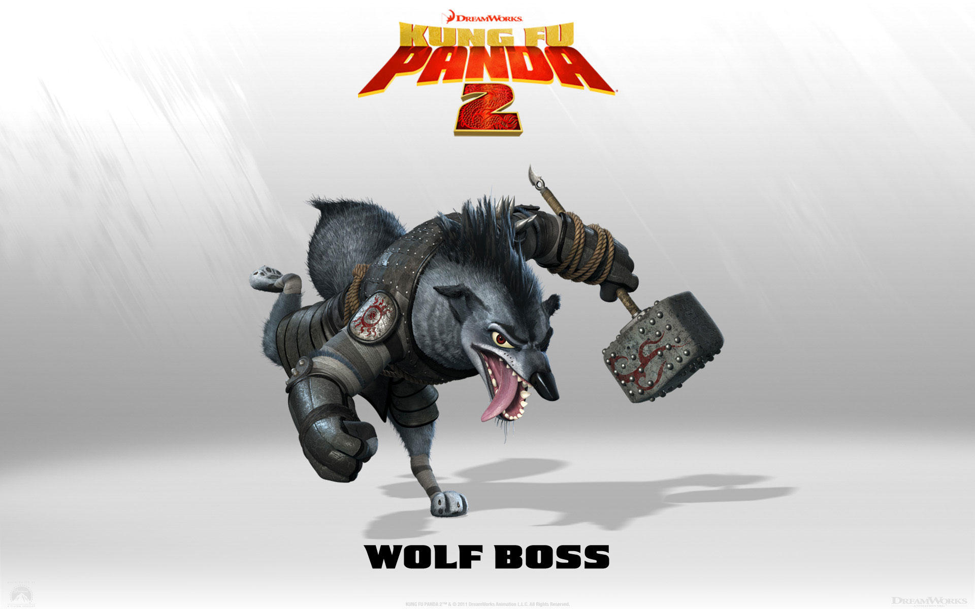 Kung Fu Panda 2 Wolf Boss wallpaper