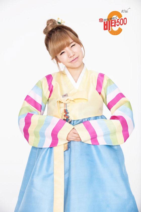 SNSD Sunny in Hanbok dress for Vita500