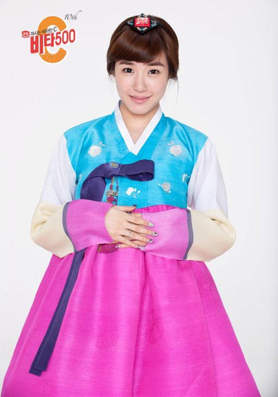 SNSD Tiffany in Hanbok dress for Vita500