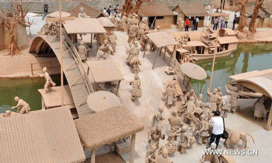 Clay sculpture park in Hebei, China