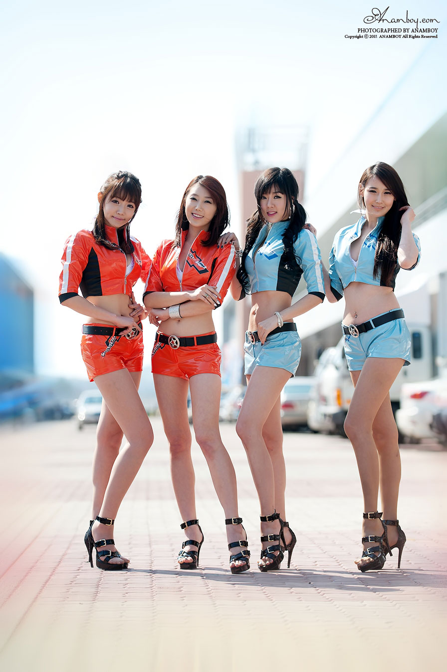 Team Chevy Korean race queens CJ Super Race