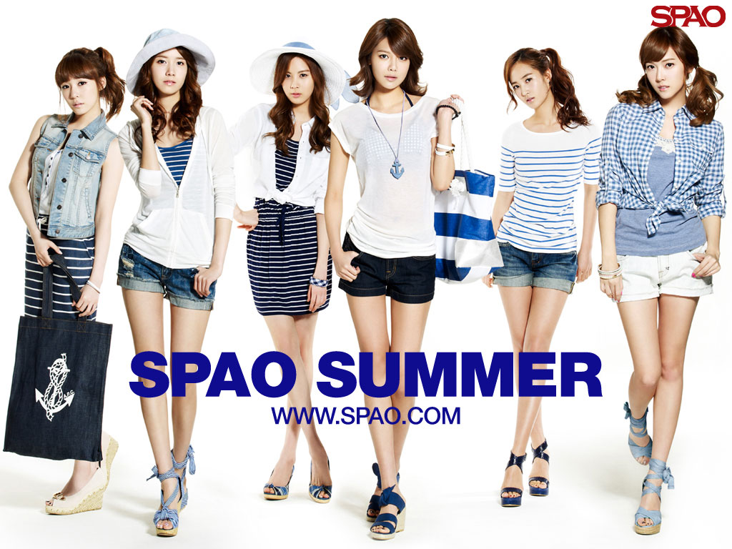 SNSD SPAO Summer 2011 wallpaper