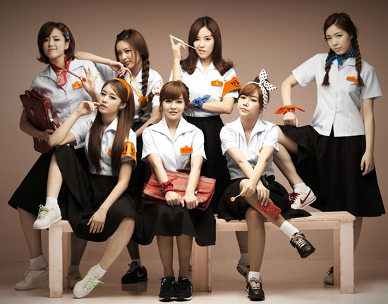 T-ara Roly Poly Korean school girls
