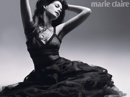 American actress Anne Hathaway Marie Claire UK