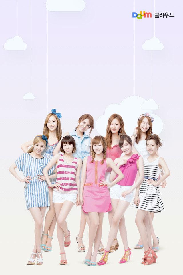 SNSD Members Daum smartphone wallpaper