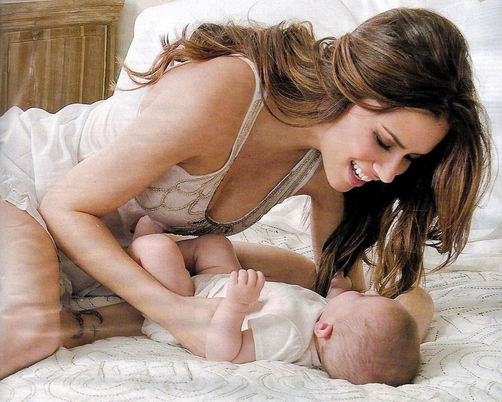 Adriana Lima and baby Valentina