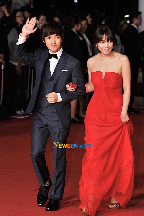 Ryu Deok-hwan and Nam Sang-mi at Busan Film Festival 2011