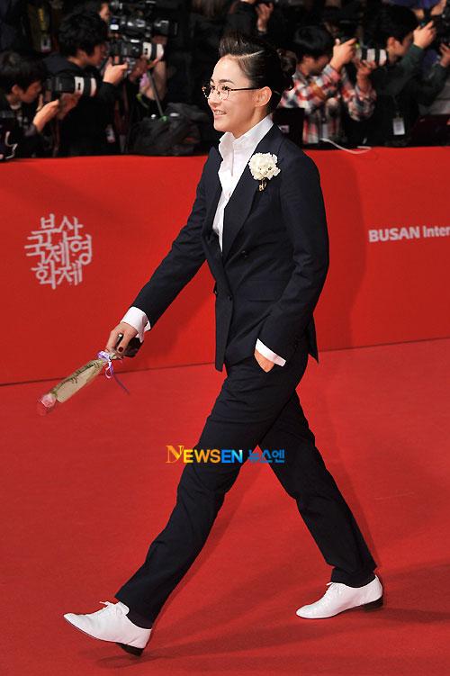 Kang Hye-jung at Busan Film Festival 2011