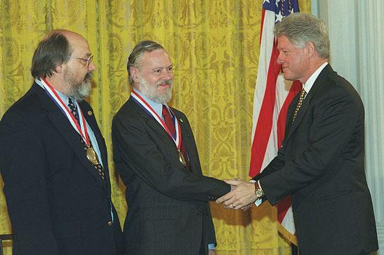 American computer scientist Dennis Ritchie
