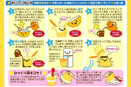 Takara Tomy Giga Pudding preparation